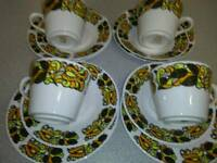 VINTAGE, RIDGWAY, 12 PC TEA SET, FROM THE 1970,S