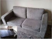 Sofa bed, tables, kettle, iron, chairs, rack, dishes, mugs & other. Sold altogether or separately.