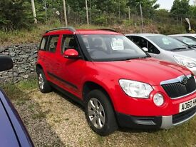2010 SKODA YETI 2.0 MANUAL - LOW MILLAGE 1 OWNER VEHICLE WITH FSH - 1 YEAR WARRANTY
