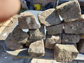 70 granite cobbles 100x100 apox