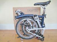 New & Unused B-Spoke Brompton Folding Bike With Accessories