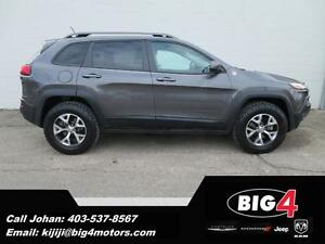 2014 Jeep Cherokee Trailhawk, Panoramic Sunroof, BT, Heated Seat