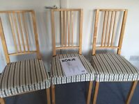 3 Ikea Borje chairs (sold separately as well)