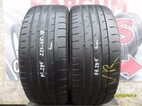 AB285. 2X 225/45/18 95W ZR 2X4MM CONTINENTAL SPORT CONTACT3 - USED TYRES