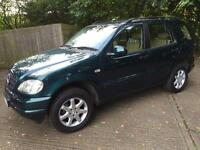 Mercedes ML 430 cream 77,000 miles leather fully loaded MOT immaculate