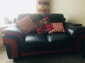 2 Italian leather sofas