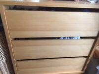 2 x black IKEA wardrobes 3 x bedside cabinets 3 x chest of draws