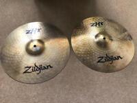"""Zildjian 14"""" ZHT Rock Hi Hats SUPERB CONDITION not Sabian, AA, Paiste"""