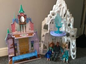 Frozen castle with figures