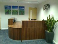 Reception Desk in Walnut 2000mm/Ref: 0413