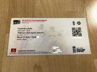 ROW A (FRONT ROW) Ticket for INDIA vs ENGLAND T20 @ Old Trafford on Tuesday 3rd July 2018, £80