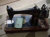 Singer antique sewing machine no.66