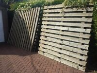 6 wooden fence panels