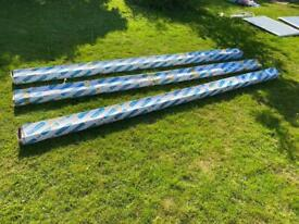 Cyproc coving. 127 mm x 6 m lengths I have 3 packs. Each pack of 6 is £20 or all 3 packs for £50.