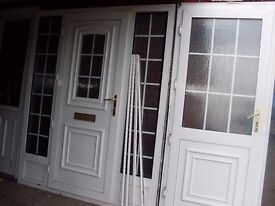 2 georgen bar upvc porch doors front /back with glass and keys