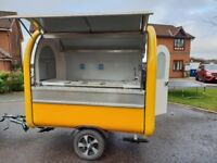 Mobile Catering Trailer Burger Van Hot Dog Ice Cream Sweets Coffee Cart