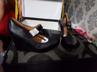 Ladies size 6 brand new wedge shoes