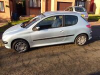 PEUGEOT 206 3DR CHEAP INSURANCE AND TAX GREAT RUNNER GOOD FIRST TIME OR FAMILY CAR