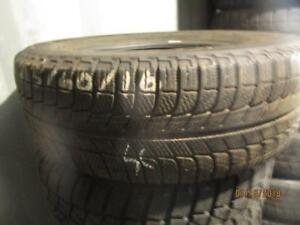 215/60R16 SINGLE ONLY USED MICHELIN WINTER TIRE