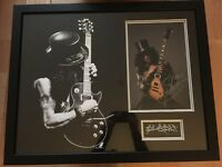 Large Wall Mounted Signed (2013) Slash Picture. Excellent Condition.