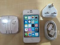 IPHONE 4 WHITE / UNLOCKED / 16 GB / / VISIT MY SHOP./ GRADE A / 1 YEAR WARRANTY