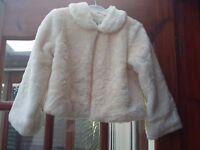 Childs Cream Faux Fur Bolero