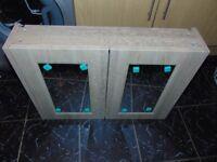 New Gladstone Oak Grey Beige Bathroom 2 Door Mirror Unit