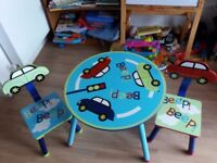 BEEP Cars Paly Table and Chairs
