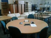 Round meeting table and 6 chairs