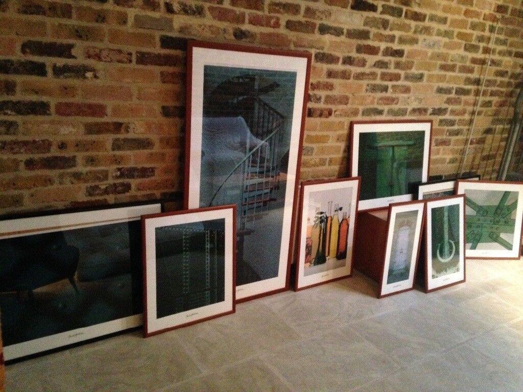 Colllection of framed artwork (9 pictures)