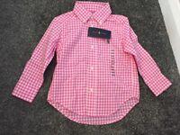 Boys pink Ralph Lauren shirt