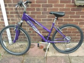 Schwinn Ladies purple small bike 24 inch wheels with kick stand