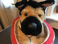 Build a bear German shepherd and bed
