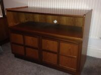 Original Nathan retro solid teak TV cabinet / sideboard