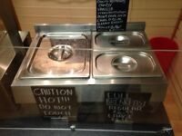 Large 3 pan Bain Marie WET WELL can fit 4 pans
