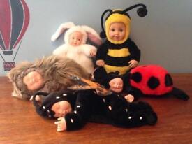 Anne Geddes ladybird, butterfly, hedgehog, bunny & bee