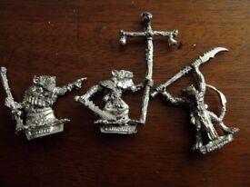 vintage warhammer metal skaven figures