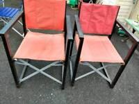 Directors chairs x 2.