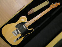 Fender Baja Telecaster Electric Guitar Natural Case Mexican 60th Anniversary