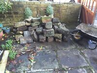 Yorkshire stone walling/rockery stone