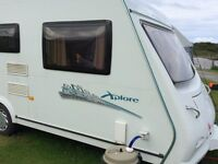 2008 Elddis Xplore 546 6 berth caravan with awning and accessories - REDUCED for quick sale