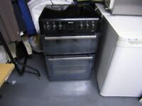 BEKO DOUBLE FREESTANDING OVEN IN BROWN BDVC66SMK IN GREAT CONDITION