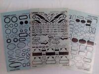Letraset art transfer sheets