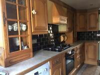 Kitchen furniture solid wood oak