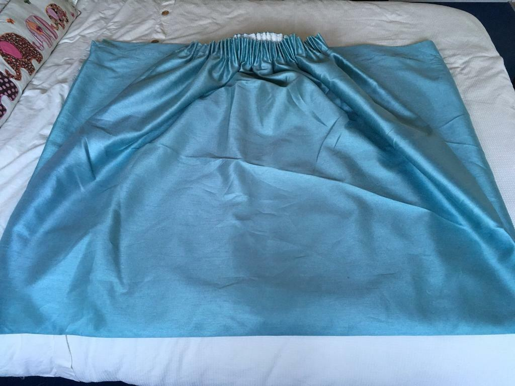 Dunelm green blue floor length curtains | in Norwich, Norfolk | Gumtree