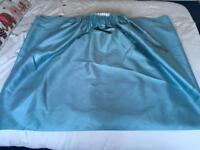 Dunelm green blue floor length curtains