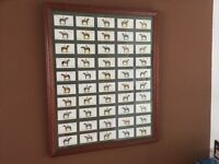 Framed set of cigarette cards -Derby and Grand National Winners