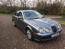 Jaguar s type 2.5 v6 auto 1 year mot 03reg luxury motoring