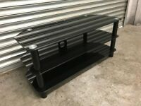 FREE DELIVERY BLACK GLASS TV BENCH GOOD CONDITION