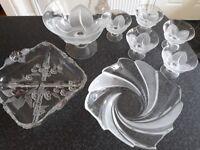 Heavy glass bowls